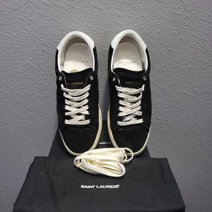 Saint Laurent Court Classic Suade Sneakers